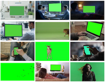 Machine learning - green screen footage classifier
